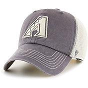 '47 Men's Arizona Diamondbacks Gray Hudson Mesh Clean Up Adjustable Hat