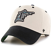 '47 Men's Miami Marlins Bone Prewett Clean Up Adjustable Hat