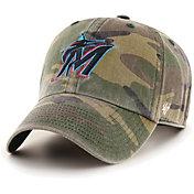 '47 Men's Miami Marlins Camo Clean Up Adjustable Hat