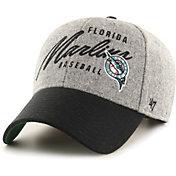'47 Men's Miami Marlins Gray Fenmore MVP Adjustable Hat