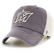 '47 Men's Miami Marlins Gray Hudson Mesh Clean Up Adjustable Hat