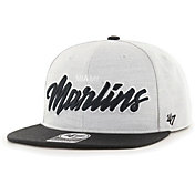 '47 Men's Miami Marlins Gray Street Captain Adjustable Snapback Hat