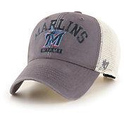 '47 Men's Miami Marlins Gray Brayman Snap MVP Adjustable Hat