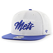 '47 Men's New York Mets Gray Street Captain Adjustable Snapback Hat