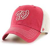 '47 Men's Washington Nationals Red Hudson Mesh Clean Up Adjustable Hat