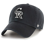 '47 Men's Colorado Rockies Black Clean Up Adjustable Hat