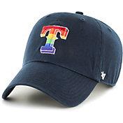 '47 Men's Texas Rangers Navy Pride Clean Up Adjustable Hat