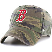 '47 Men's Boston Red Sox Camo Clean Up Adjustable Hat