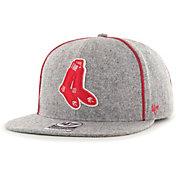 '47 Men's Boston Red Sox Gray Pilgrim Captain Adjustable Snapback Hat