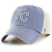 '47 Men's Kansas City Royals Blue Hudson Mesh Clean Up Adjustable Hat
