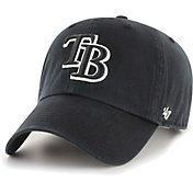 '47 Men's Tampa Bay Rays Black Clean Up Adjustable Hat
