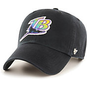 '47 Men's Tampa Bay Rays Black Mclean Clean Up Adjustable Hat