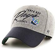 '47 Men's Tampa Bay Rays Gray Fenmore MVP Adjustable Hat
