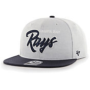 '47 Men's Tampa Bay Rays Gray Street Captain Adjustable Snapback Hat