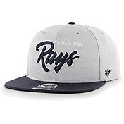 '47 Men's Tampa Bay Rays Gray Street Captain Adjustable Snapback Hat