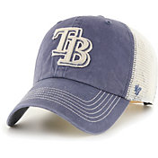 '47 Men's Tampa Bay Rays Navy Hudson Mesh Clean Up Adjustable Hat