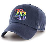 '47 Men's Tampa Bay Rays Navy Pride Clean Up Adjustable Hat