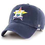 '47 Men's Houston Astros Navy Pride Clean Up Adjustable Hat