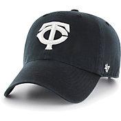 '47 Men's Minnesota Twins Black Clean Up Adjustable Hat