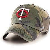 '47 Men's Minnesota Twins Camo Clean Up Adjustable Hat