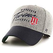'47 Men's Minnesota Twins Gray Fenmore MVP Adjustable Hat