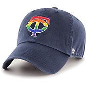 '47 Men's Minnesota Twins Navy Pride Clean Up Adjustable Hat