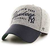 '47 Men's New York Yankees Grey Fenmore MVP Adjustable Hat