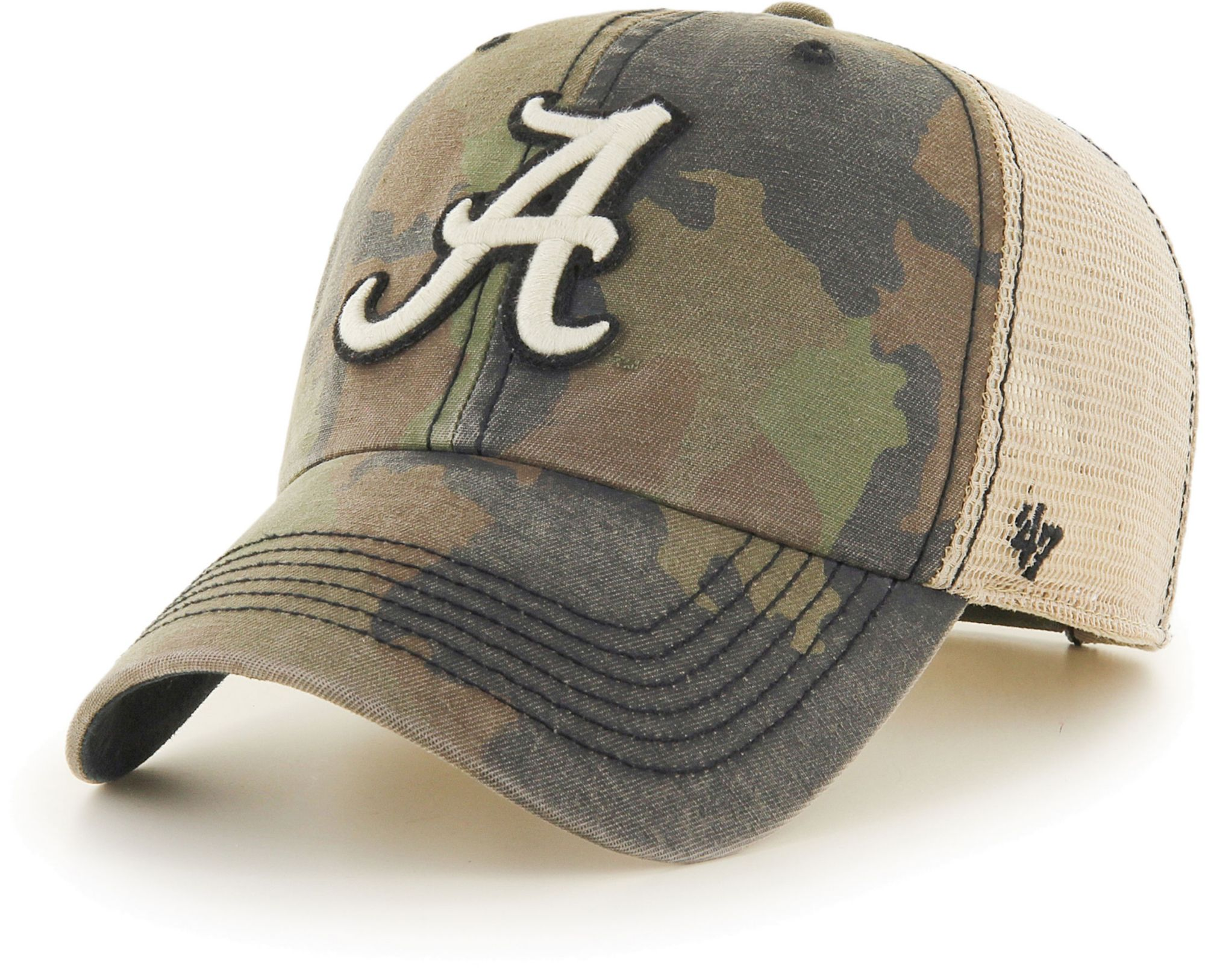 '47 Men's Alabama Crimson Tide Camo Burnett Clean Up Adjustable Hat, Size: One size, Green thumbnail
