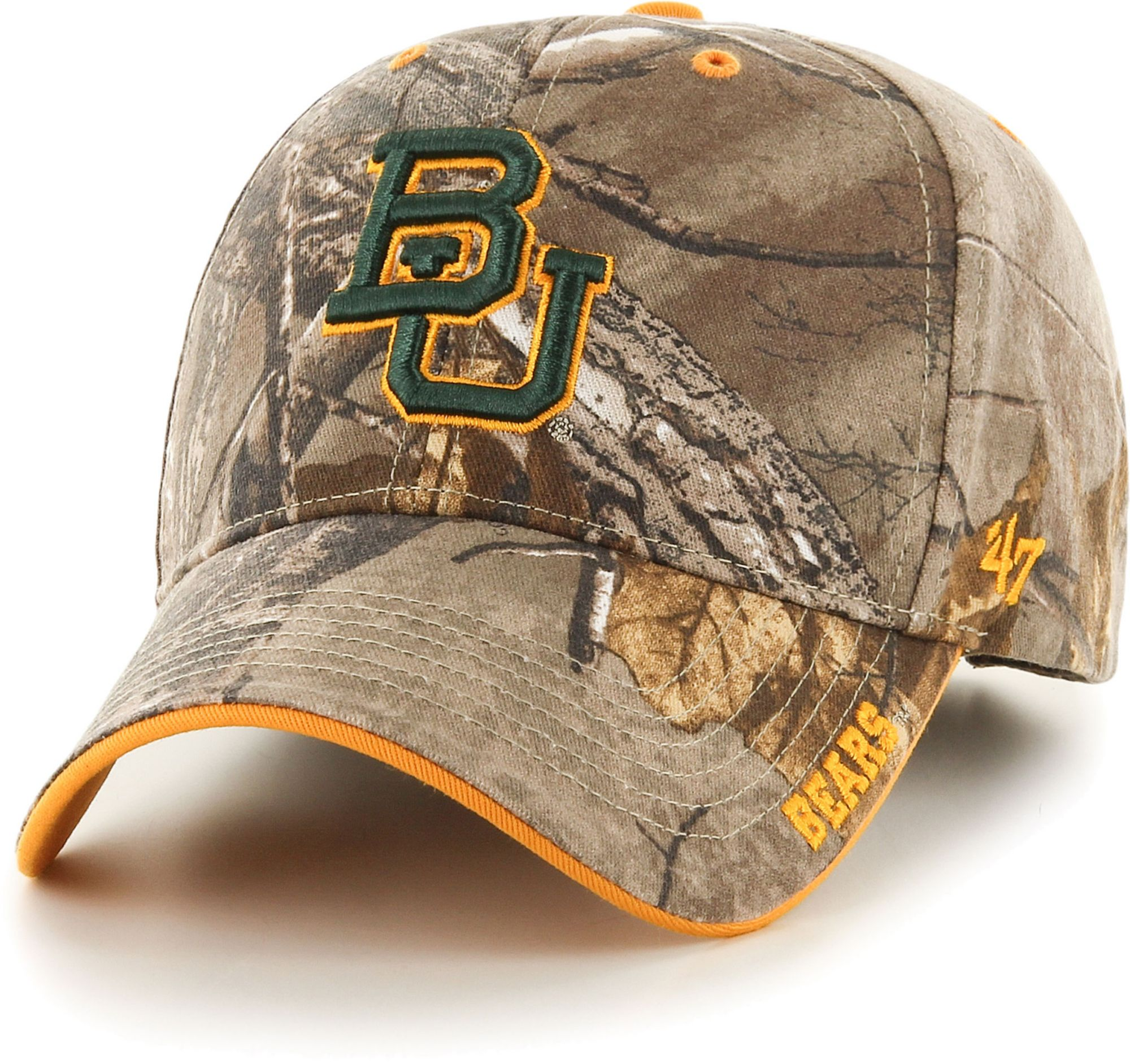 '47 Men's Baylor Camo Realtree Frost MVP Adjustable Hat, Size: One size, Green thumbnail