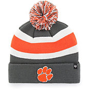 '47 Men's Clemson Tigers Grey Breakaway Cuffed Knit Hat