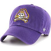 '47 Men's East Carolina Pirates Purple Clean Up Adjustable Hat