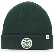 '47 Men's Colorado State Rams Green Raised Cuffed Knit Beanie