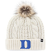 '47 Men's Duke Blue Devils White Meeko Cuffed Knit Hat