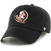 '47 Men's Florida State Seminoles Clean Up Adjustable Black Hat