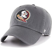 '47 Men's Florida State Seminoles Grey Clean Up Adjustable Hat