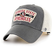 '47 Men's Florida State Seminoles Grey Crawford Clean Up Adjustable Hat