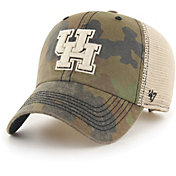 '47 Men's Houston Cougars Camo Burnett Clean Up Adjustable Hat