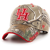 '47 Men's Houston Cougars Camo Realtree Frost MVP Adjustable Hat