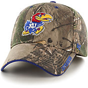 '47 Men's Kansas Jayhawks Camo Realtree Frost MVP Adjustable Hat