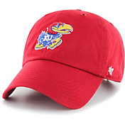 '47 Men's Kansas Jayhawks Crimson Clean Up Adjustable Hat