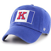 '47 Men's Kansas Jayhawks Blue Clean Up Adjustable Hat