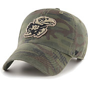 '47 Men's Kansas Jayhawks Camo OHT Movement Clean Up Adjustable Hat
