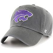 '47 Men's Kansas State Wildcats Grey Clean Up Adjustable Hat