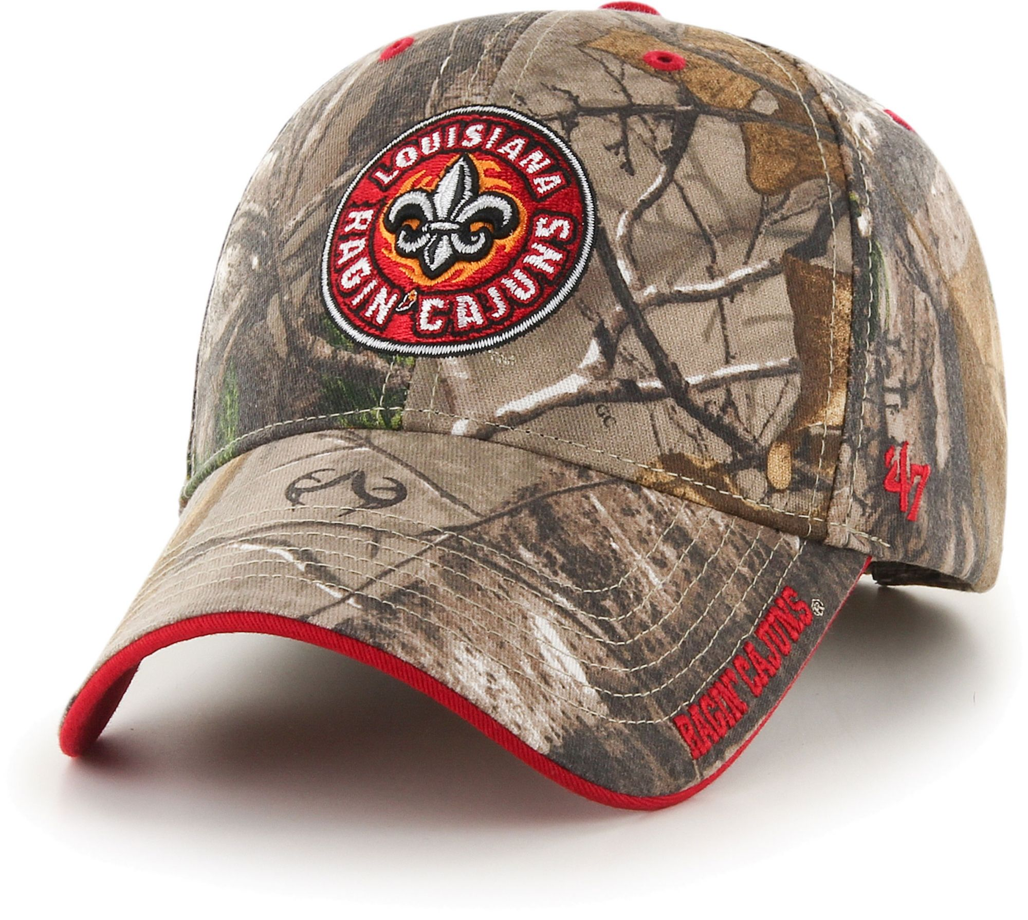 '47 Men's Louisiana-Lafayette Ragin' Cajuns Camo Realtree Frost MVP Adjustable Hat, Size: One size, Green thumbnail