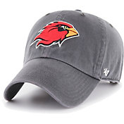 '47 Men's Lamar Cardinals Grey Clean Up Adjustable Hat