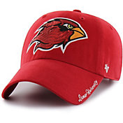 '47 Women's Lamar Cardinals Red Sparkle Clean Up Adjustable Hat