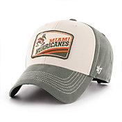 '47 Men's Miami Hurricanes Green Upland MVP Adjustable Hat