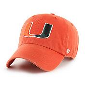 '47 Men's Miami Hurricanes Clean Up Adjustable Hat