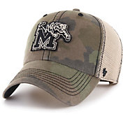 '47 Men's Memphis Tigers Camo Burnett Clean Up Adjustable Hat