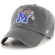'47 Men's Memphis Tigers Grey Clean Up Adjustable Hat